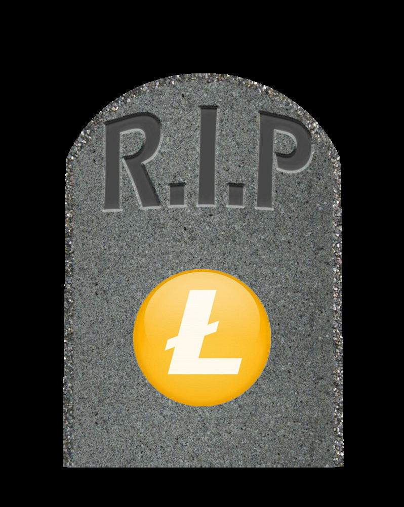 litecoin tombstone
