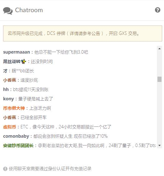 yunbi chatroom