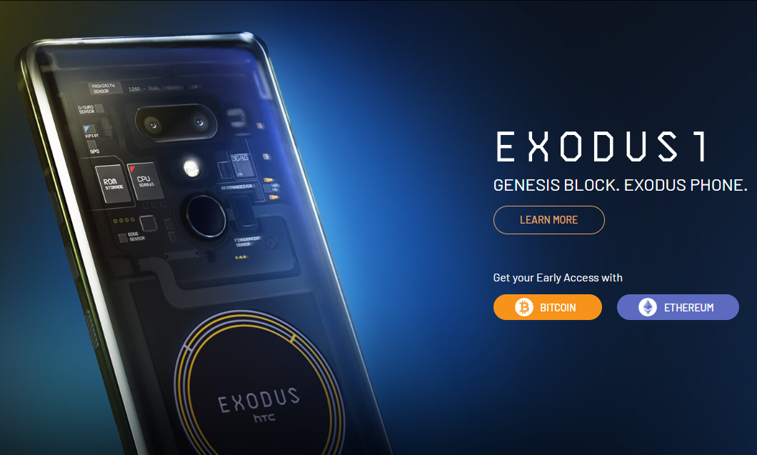 HTC Exodus Blockchain Smartphone Launched, Priced at 0.15 BTC/4.78 ETH