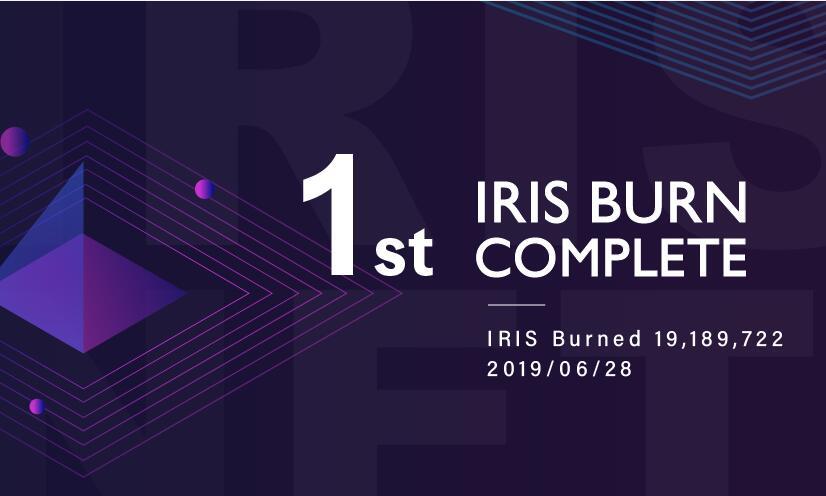 Announcement: 1st IRIS Token Burn Complete