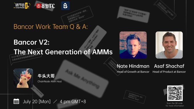 AMA with Bancor: V2's Solutions to Improve AMMs