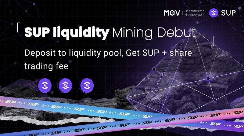 SUP Liquidity Mining Debut